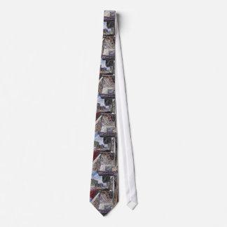 Estructura urbana abstracta corbatas personalizadas