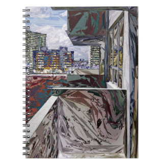 Estructura urbana abstracta libretas espirales