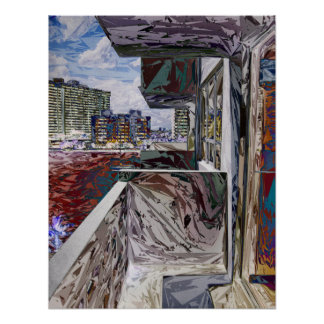 Estructura urbana abstracta póster