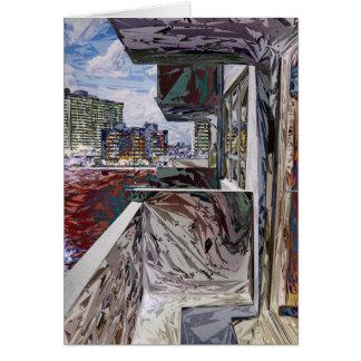 Estructura urbana abstracta tarjeta de felicitación