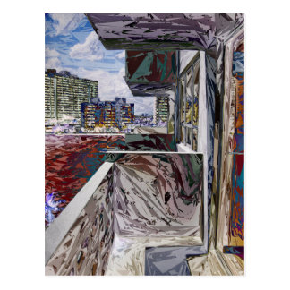 Estructura urbana abstracta tarjetas postales
