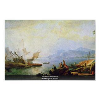 Estuary And Harbor By Manglard Adrien Posters
