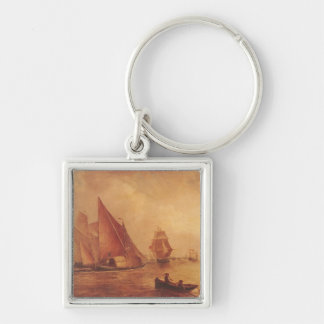 Estuary of the Thames and the Medway Silver-Colored Square Keychain