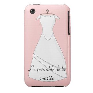 Estuche portable de la novia blanco, casco iphone3 Case-Mate iPhone 3 cárcasas