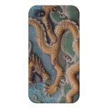 Estuche rígido chino de la mota del dragón para el iPhone 4 cárcasa