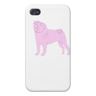 Estuche rígido chino rosado del iphone del barro a iPhone 4/4S carcasa