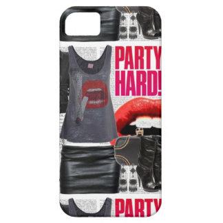 Estuche rígido del fiesta iPhone 5 fundas