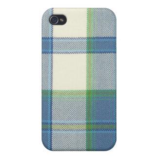 Estuche rígido del iPhone 4/4S del tartán del azul iPhone 4 Coberturas