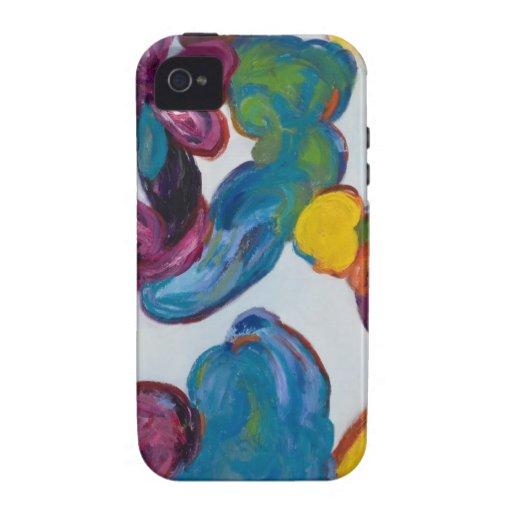 Estuche rígido del iphone 4 del arte abstracto de iPhone 4/4S funda