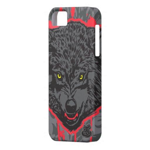 Estuche rígido del iPhone 5/s de Wolfpack Barely T iPhone 5 Case-Mate Coberturas