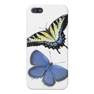Estuche rígido del iPhone de la mariposa por la iPhone 5 Fundas