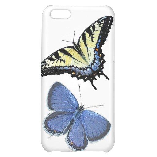 Estuche rígido del iPhone de la mariposa por la mo