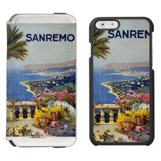 Estuches de viaje del vintage de Sanremo Italia Funda Billetera Para iPhone 6 Watson