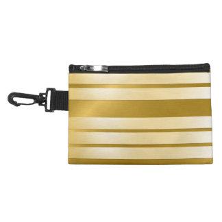 Estuches para Accesorios Gold bandas horizontales