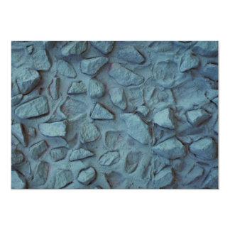 Estuco pintado azul ilustrativo de la roca invitación 12,7 x 17,8 cm