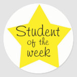 Estudiante adaptable de la semana pegatinas redondas