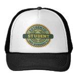 Estudiante auténtico gorras