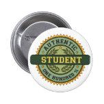 Estudiante auténtico pin