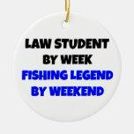 Estudiante de Derecho de la leyenda de la pesca Ornamentos De Navidad