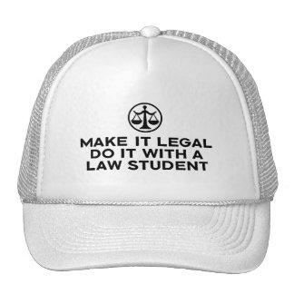 Estudiante de Derecho divertido Gorras De Camionero