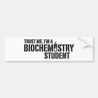 Estudiante de la bioquímica pegatina para auto