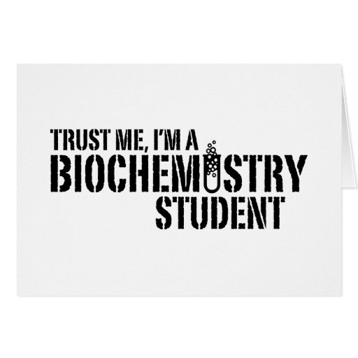 Estudiante de la bioquímica tarjeta de felicitación