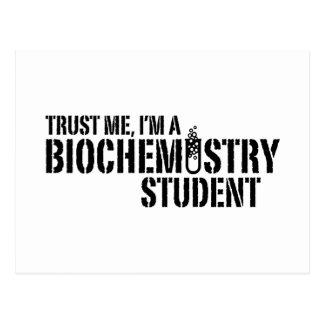 Estudiante de la bioquímica postal