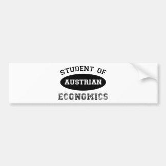Estudiante de la economía austríaca pegatina de parachoque