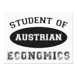 Estudiante de la economía austríaca impresion de lienzo