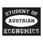 Estudiante de la economía austríaca impresiones en lona estiradas