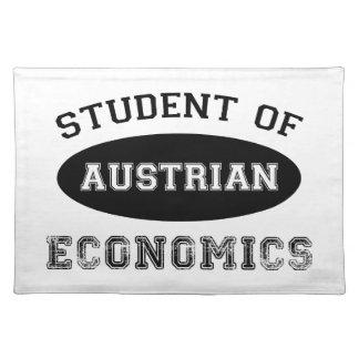 Estudiante de la economía austríaca manteles individuales