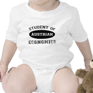 Estudiante de la economía austríaca traje de bebé