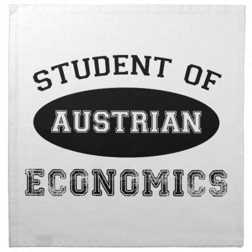 Estudiante de la economía austríaca servilletas de papel