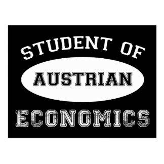 Estudiante de la economía austríaca tarjetas postales