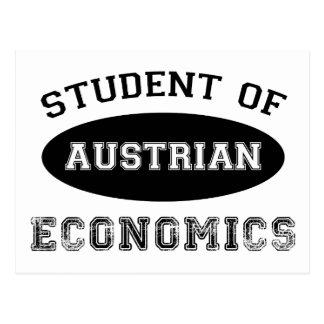 Estudiante de la economía austríaca postal