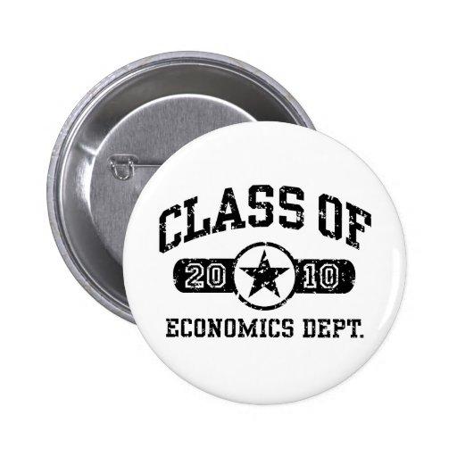 Estudiante de la economía pin redondo de 2 pulgadas
