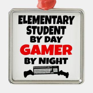 Estudiante de la escuela primaria del videojugador ornaments para arbol de navidad