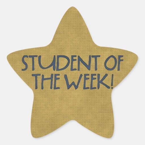 Estudiante de la estrella de la escuela de los calcomania forma de estrella personalizada