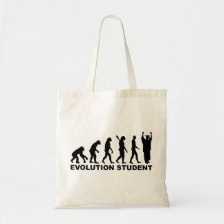 Estudiante de la evolución bolsa de mano