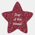 Estudiante de los pegatinas rojos de la estrella calcomanía forma de estrellae
