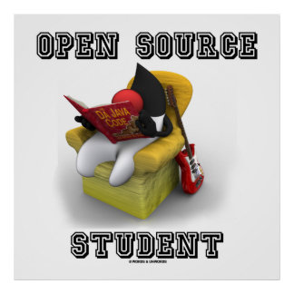 Estudiante de Open Source duque Java Book Comfy C Poster