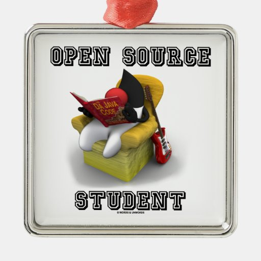 Estudiante de Open Source (duque Java Book Comfy Ornamento Para Reyes Magos