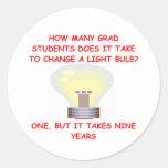 estudiante de postgrado etiquetas redondas
