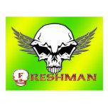 Estudiante de primer año - alas del cráneo postal