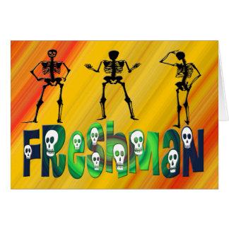 Estudiante de primer año - esqueletos tarjetas