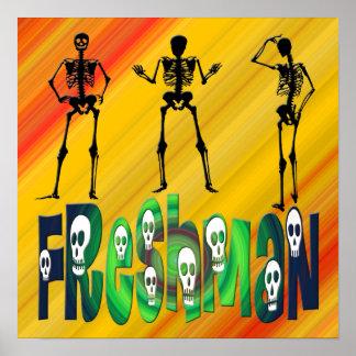 Estudiante de primer año - poster de los esqueleto