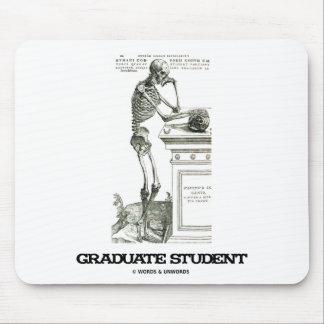 Estudiante de tercer ciclo (esqueleto) tapetes de raton