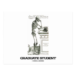 Estudiante de tercer ciclo (esqueleto) tarjetas postales
