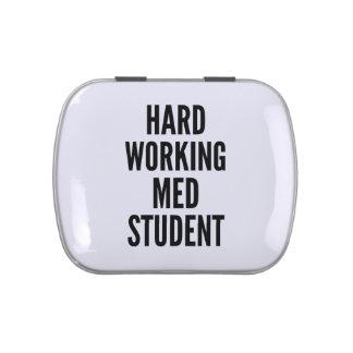 Estudiante de trabajo duro del MED Jarrones De Caramelos