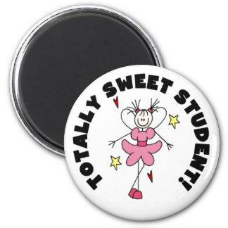 Estudiante del dulce del ángel imán redondo 5 cm